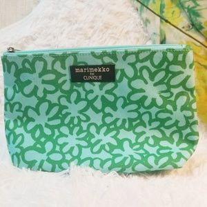 Used, Marimekko for Clinique green and blue makeup bag for sale
